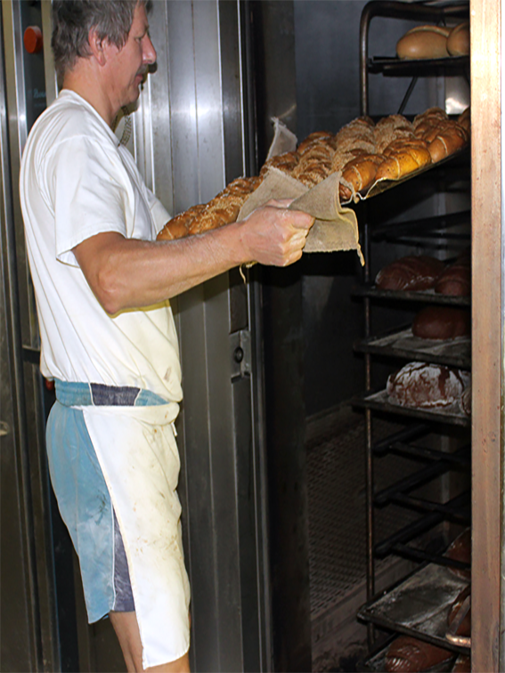 Gebäck frisch aus dem Ofen