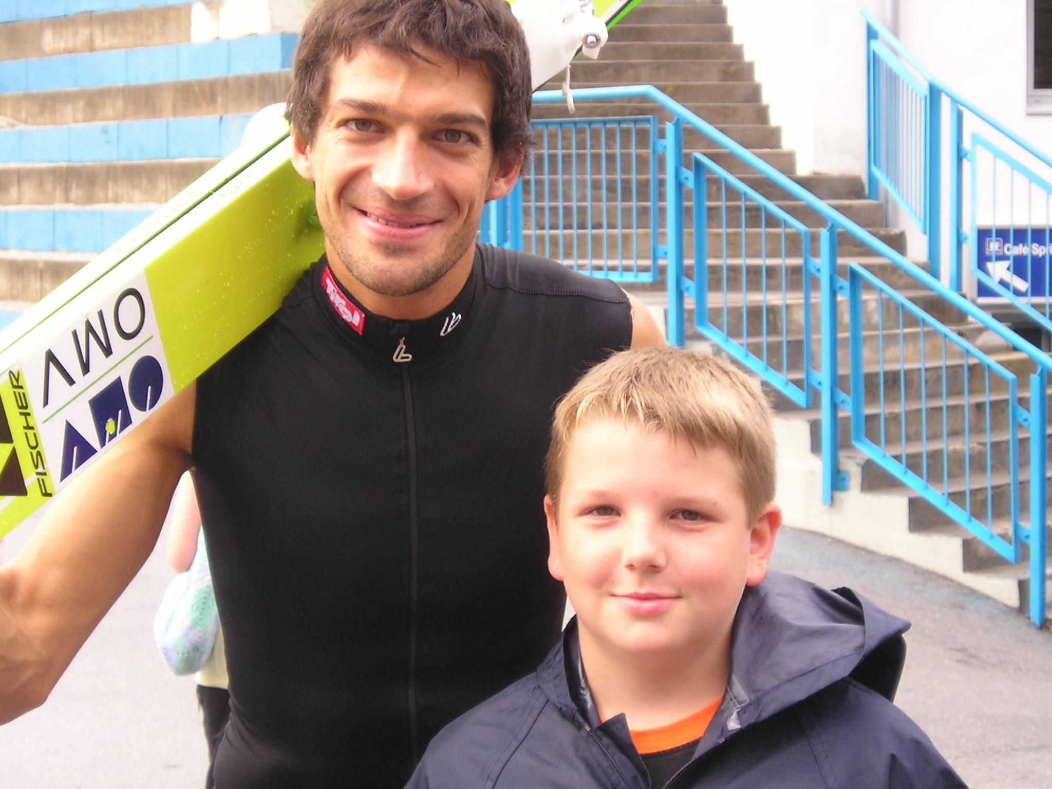 Andreas Kofler mit Sohn Jakob